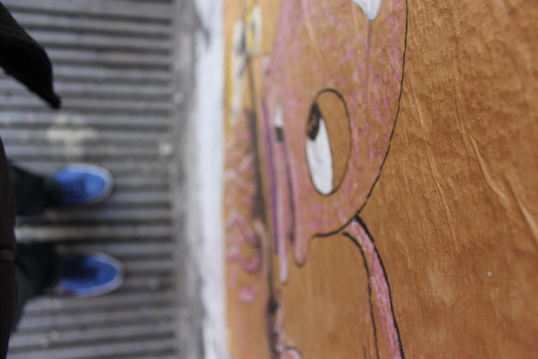 Streetart in der Dirksenstraße in Berlin